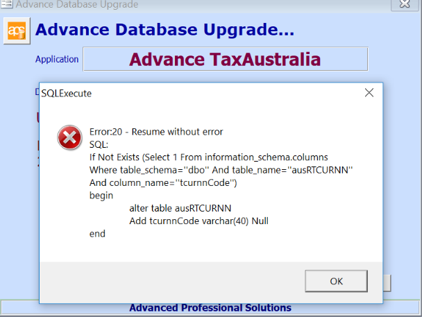 Version Control Failed On Upgrade To 2019 2 0 Customer Self Service